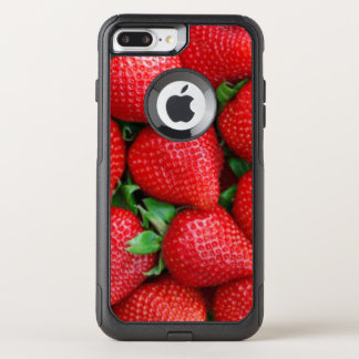 Red Strawberries Pattern Design OtterBox Commuter iPhone 8 Plus/7 Plus Case