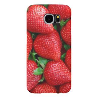 Red Strawberries Pattern Design Samsung Galaxy S6 Cases