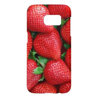 Red Strawberries Pattern Design Samsung Galaxy S7 Case