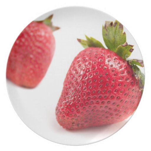 Red Strawberries Dinner Plates