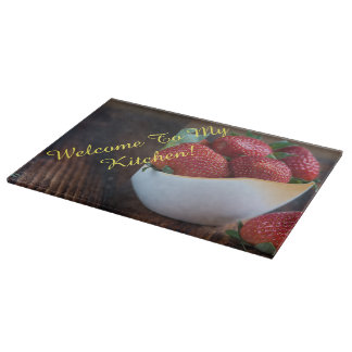 Red Strawberry Cutting Board