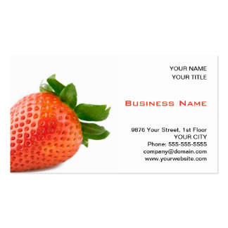Red Strawberry Greengrocer Business Card