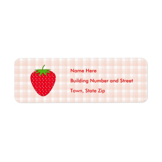 Red Strawberry on Gingham Check.