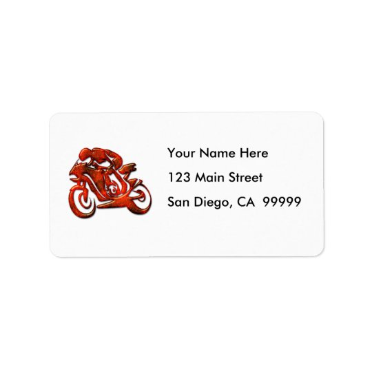 Red Streaks Embossed Motorcycle Racer