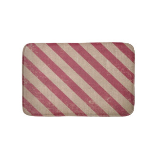red stripe holiday candy cane christmas bath mat