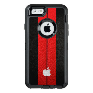 Red Stripe OtterBox Defender iPhone Case