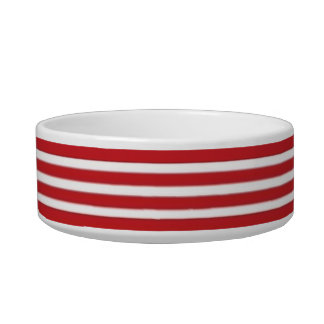 Red Stripe Pet Bowl