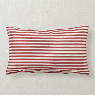 Red  Stripe Throw Pillow