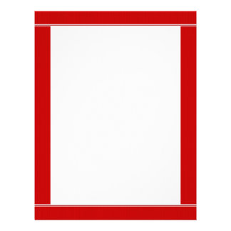 Red Striped Bordered Letterhead