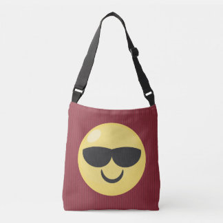 Red Striped Cool Sunglasses Emoji Tote Bag