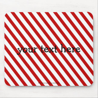 Red Striped Mouse Pad