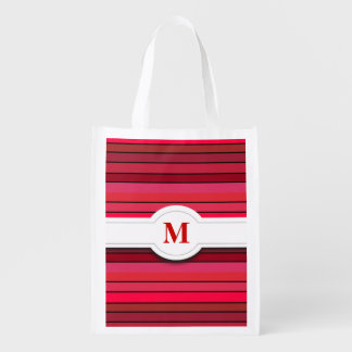 Red striped pattern Reusable Bag