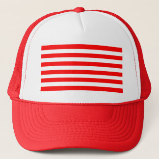 Red Striped Trucker Hat