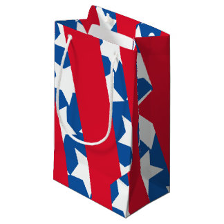 Red Stripes American Flag Gift Wrapping Small Gift Bag