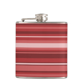 Red stripes flask