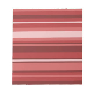 Red stripes notepad