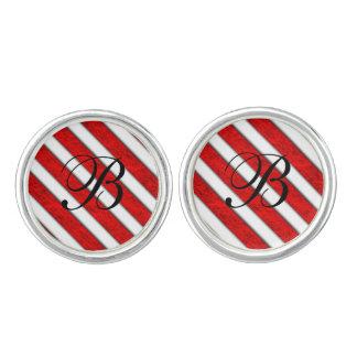 Red Stripes Pattern Cufflinks