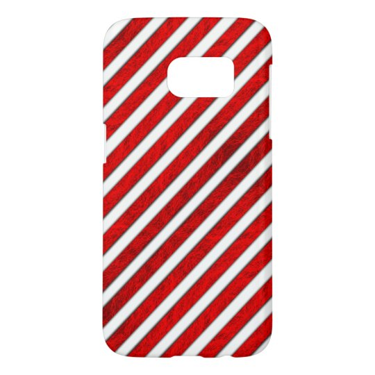 Red Stripes Pattern Samsung Galaxy S7 Case