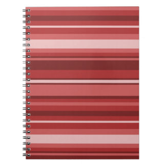 Red stripes spiral note books