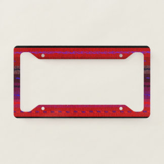 Red Stripes Woven Look  License Plate Frame