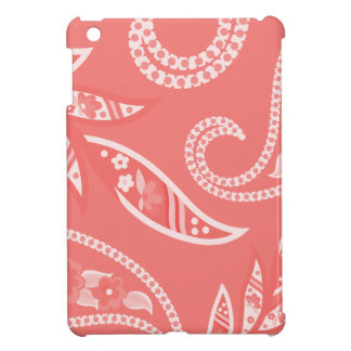 Red Stylized Flowers Cover For The iPad Mini