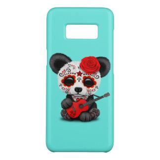 Red Sugar Skull Panda Playing Guitar Case-Mate Samsung Galaxy S8 Case