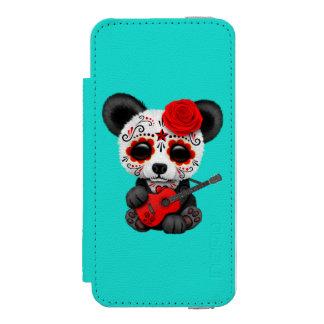 Red Sugar Skull Panda Playing Guitar Incipio Watson™ iPhone 5 Wallet Case