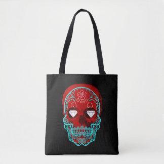 Red Sugar Skull Tote