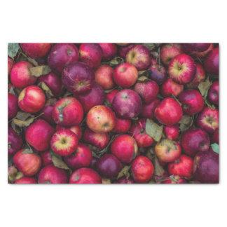 Red summer apples pattern tissue paper