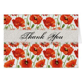 Red Summer Poppy Card