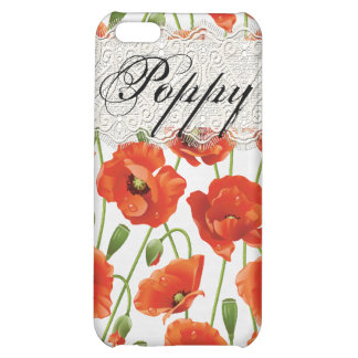Red Summer Poppy iPhone 5C Cases