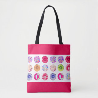 Red summer tote bag