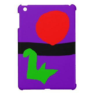 Red Sun Black Horizon Purple Sky Green Lizard iPad Mini Cover
