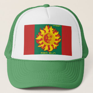 RED SUN, KOSMIK RIN TRUCKER HAT