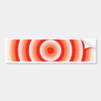 red sun mandala bumper sticker