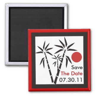 Red Sun Save The Date Magnets