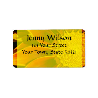 Red Sunflower Address Label