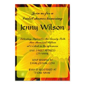 Red Sunflower Bridal Shower Invitation