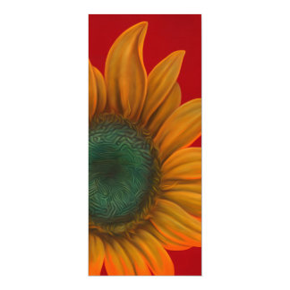 red sunflower card