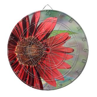 Red Sunflower Dartboard