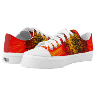 Red Sunflower Low-Top Sneakers