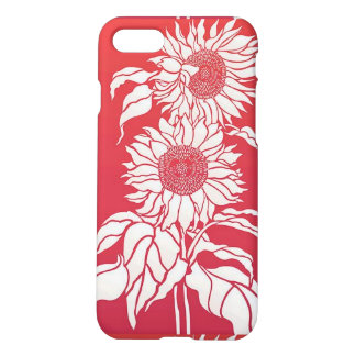 Red Sunflower Matte Iphone 7 Case