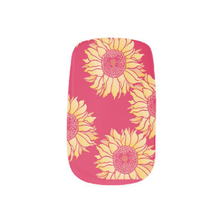 Red Sunflower Nail Art