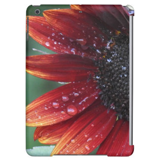 Red Sunflower Petals And Rain Drops Cover For iPad Air