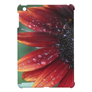 Red Sunflower Petals And Rain Drops Cover For The iPad Mini
