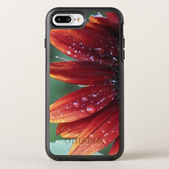 Red Sunflower Petals And Rain Drops OtterBox Symmetry iPhone 8 Plus/7 Plus Case