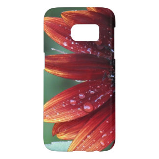 Red Sunflower Petals And Rain Drops Samsung Galaxy S7 Case