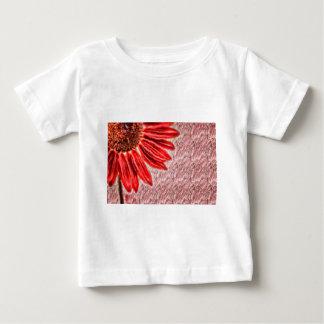 Red Sunflower Sketch Baby T-Shirt
