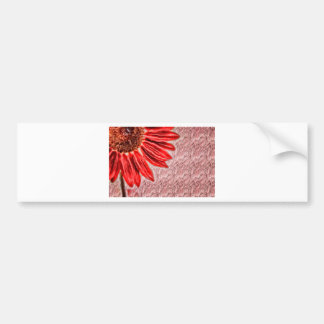 Red Sunflower Sketch Bumper Sticker