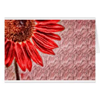 Red Sunflower Sketch Card